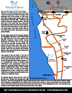 Rosarito Beach Hotel Driving Map